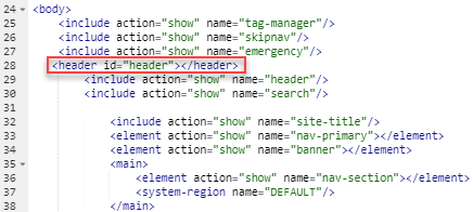 example of where to add a new header tag