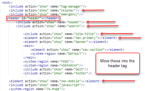 example of items to move into the header tag