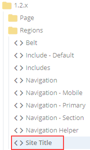 region site title in folder tree