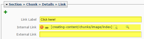 Link text for button and URL