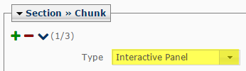 Select the Interactive Panel chunk type