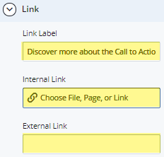 link label and external/external link fields