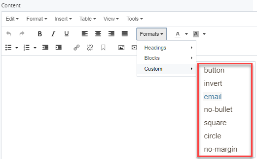 custom selections in dropdown