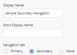 folder display name and secondary navigation