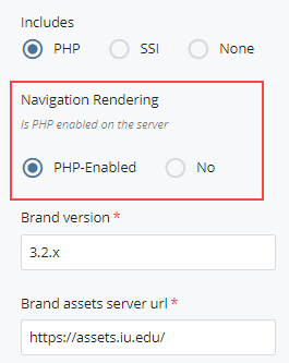 navigation rendering selection