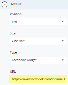 facebook social media widget and URL for embedding