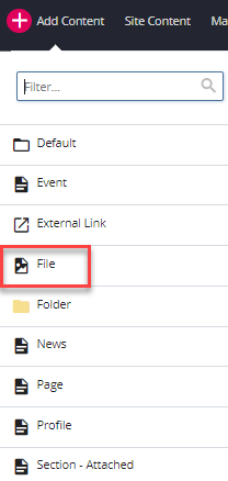 add content and file