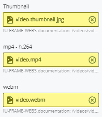 video file fields